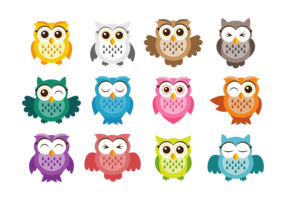 Cute Owl Vector Icons