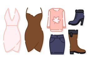 Cute Women Clothes Vector