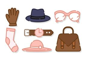 Cute Women Accessories Vector
