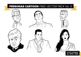 Personas Cartoon Free Vector Pack Vol. 6