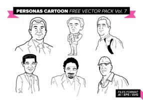 Personas Cartoon Free Vector Pack Vol. 7