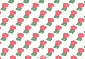 Petunia Seamless Vector Pattern
