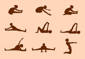 Silhouette of Yoga Pose Vectors