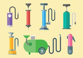 Colorful Air Pump Icons Vector