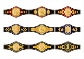 Gold Championship Belt Vectors