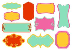 Free Decorative Funky Frame Collection Vector