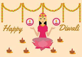 Free Goddess Lakshmi Vector Illustration