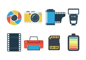 Rainbow Photography Icon Vector