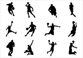 Silhouette of Basketball Vectors