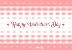 Vector Hearts Halftone Background