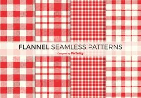 Free Red Flannel Vector Patterns