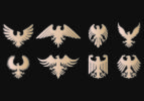 Eagle Seal Symbol Vectors