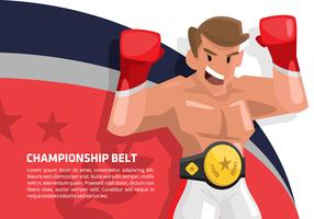 Boxing Champion Vector Background