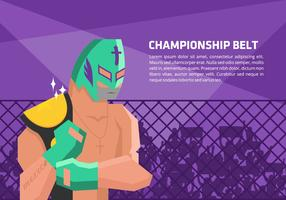 Lucha Libre Champion Vector Background