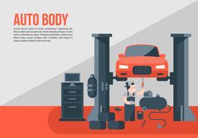 Red Auto Body Background