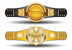 Championship Belt Template