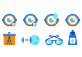 Set Of Blue Eye Doctor Icons
