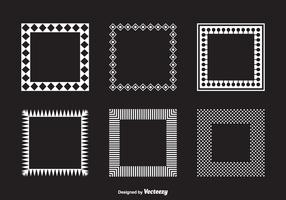 Vector Square Geometric Funky Frames