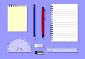 Stationary Block Notes Free Vector