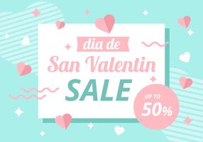 Free San Valentin Background Sale Vector
