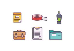 Free Modern Office Stationery Vectors