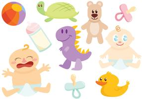 Free Baby's Toys Vectors