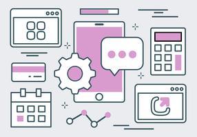 Purple Website Elements Vector Background
