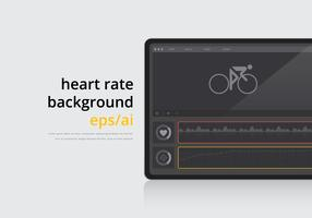 Heart Rate Illustration Background