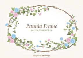 Floral Petunias Border Vector