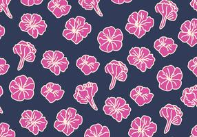 Blue And Pink Petunia Pattern