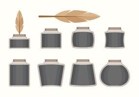 Flat Inkwell Set