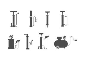 Free Air Pump Vector Set