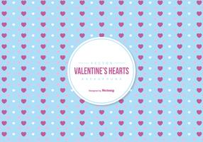 Valentine's Colorful Hearts Background