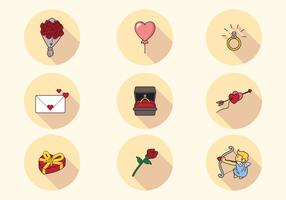 Lovely San Valentin Icons
