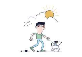 Free Dog Walk Vector