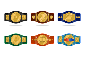 Realistic Championship Belt Vector