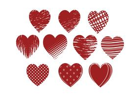 Free Grunge Hearts Vector