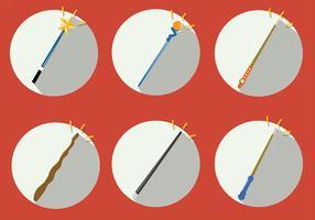 Magic Stick Vector Set