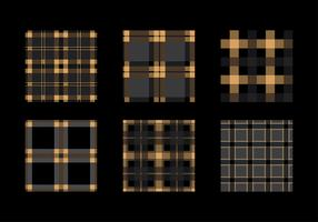 Flannel Black Gold Texture Vector