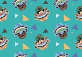 Free Onam Seamless Pattern Vector Illustration