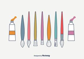 Artist Brushes Vector Set