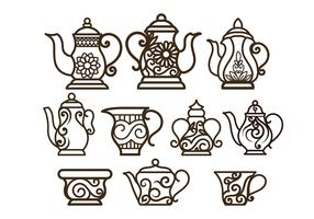 Decorative Teapot Vectors
