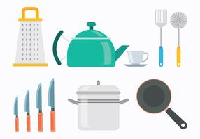 60s Style Cocina Icons Vectors