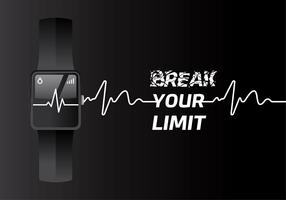 Heart Rate Fit Tracker Free Vector