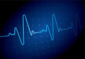 Heart Rate Blue Backgound Free Vector