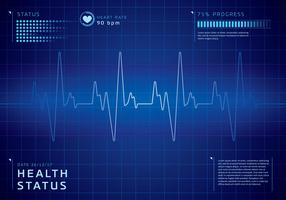 Detailed Heart Rate Background Free Vector