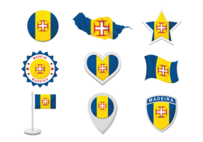 Madeira Icons Vector