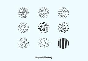 Hand Drawn Circles Pack Vector