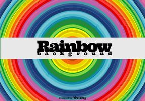 Rainbow Round Background - Vector