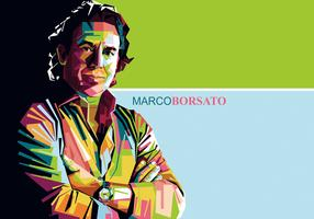 Marco Borsato Singer Portrait Vector